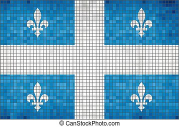 Flag of Quebec on a brick wall