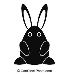 Easter bunny black simple icon