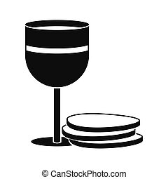 Chalice of wine and wafers icon
