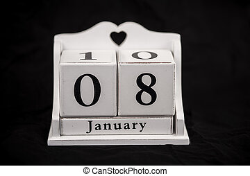 Calendar cubes January, eighth, 8, 8th - Calendar cubes...
