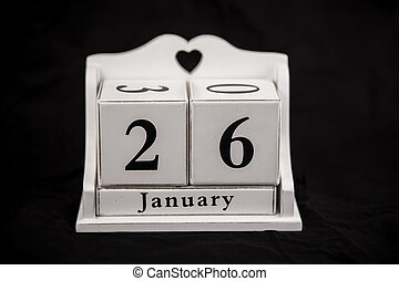 Calendar cubes January, twenty sixth, 26, 26th - Calendar...