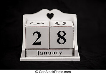 Calendar cubes January, twenty-eighth, 28, 28th - Calendar...