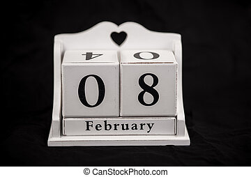 Calendar cubes February, eighth, 8, 8th - Calendar cubes...