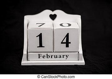 Calendar cubes February, fourteenth, 14, 14th - Calendar...