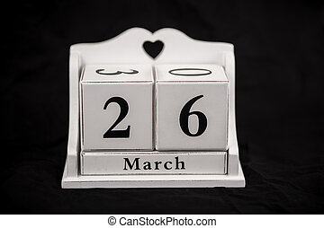 Calendar cubes March, twenty sixth, 26, 26th - Calendar...