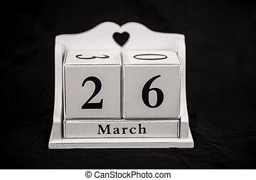 Calendar cubes March, twenty sixth, 26, 26th - Calendar...