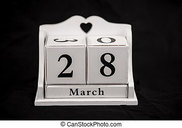 Calendar cubes March, twenty-eighth, 28, 28th - Calendar...