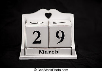 Calendar cubes March, Twenty-ninth, 29, 29th - Calendar...