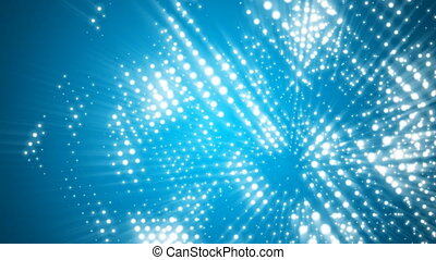 Abstract light dots cube motion background seamless loop