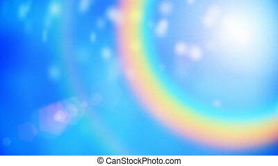 Rainbow motion background