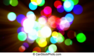 Abstract multicolored bokeh lights defocused motion...