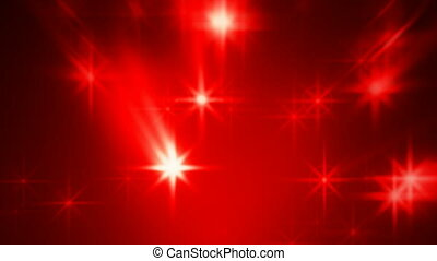 Abstract red blurred stars