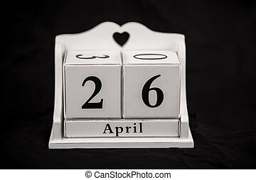 Calendar cubes April, twenty sixth, 26, 26th - Calendar...
