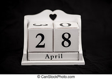 Calendar cubes April, twenty-eighth, 28, 28th - Calendar...