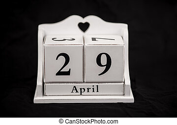 Calendar cubes April, Twenty-ninth, 29, 29th - Calendar...