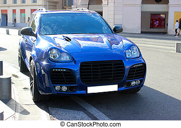 SUV Tuning - Blue SUV Tuning
