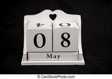 Calendar cubes May, eighth, 8, 8th - Calendar cubes black...