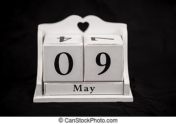 Calendar cubes May, ninth, 9, 9th, - Calendar cubes black...
