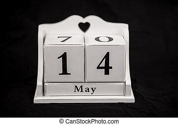 Calendar cubes May, fourteenth, 14, 14th - Calendar cubes...