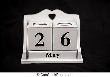 Calendar cubes May, twenty sixth, 26, 26th - Calendar cubes...