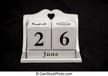 Calendar cubes June, twenty sixth, 26, 26th - Calendar cubes...