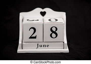 Calendar cubes June, twenty-eighth, 28, 28th - Calendar...