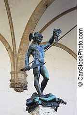 Perseus with the head of Medusa by Benvenuto Cellini -...