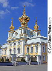 Peterhof - The central palace church the apostles Peter and...