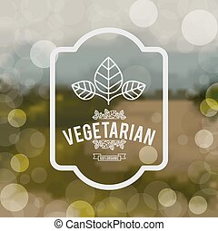 vegetarian food design - vegetarian food design, vector...