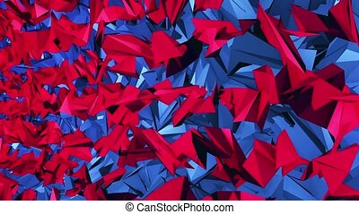 Abstract background in red and blue