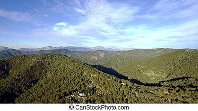4K Aerial, Flying over a forest in Andalusia, Spain -...