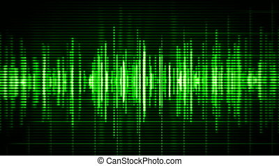 Green high-tech waveform
