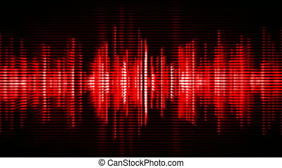 Red high-tech waveform