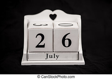 Calendar cubes July, twenty sixth, 26, 26th - Calendar cubes...