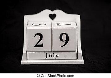 Calendar cubes July, Twenty-ninth, 29, 29th - Calendar cubes...