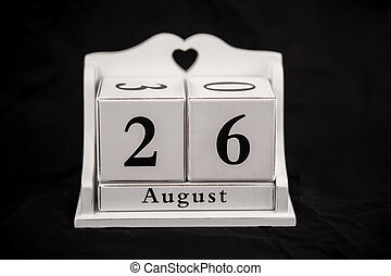 Calendar cubes August, twenty sixth, 26, 26th - Calendar...