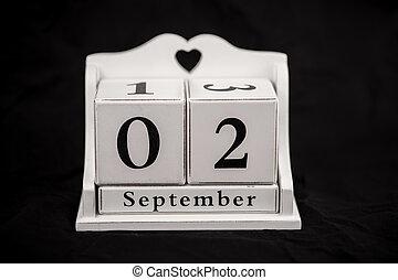 Calendar cubes September, second, 2, 2nd - Calendar cubes...