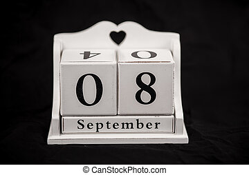 Calendar cubes September, eighth, 8, 8th - Calendar cubes...