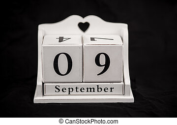 Calendar cubes September, ninth, 9, 9th - Calendar cubes...
