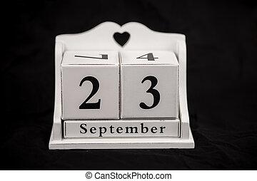Calendar cubes September, twenty third, 23, 23rd - Calendar...