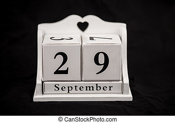 Calendar cubes September, Twenty-ninth, 29, 29th - Calendar...