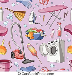 Doodle pattern set of cleanup, vector illustration, EPS 10