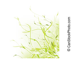 Green abstract floral frame with copyspace for your text