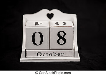 Calendar cubes October, eighth, 8, 8th - Calendar cubes...