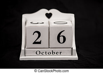 Calendar cubes October, twenty sixth, 26, 26th - Calendar...