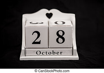 Calendar cubes October, twenty-eighth, 28, 28th - Calendar...