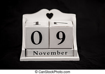Calendar cubes november, ninth, 9, 9th - Calendar cubes...