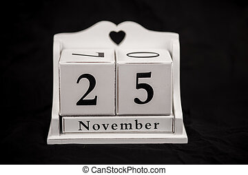 Calendar cubes november, twenty fifth, 25, 25th - Calendar...