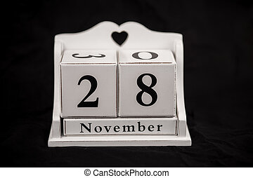 Calendar cubes november, twenty-eighth, 28, 28th - Calendar...