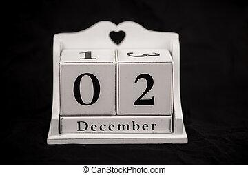 Calendar cubes december, second, 2, 2nd - Calendar cubes...